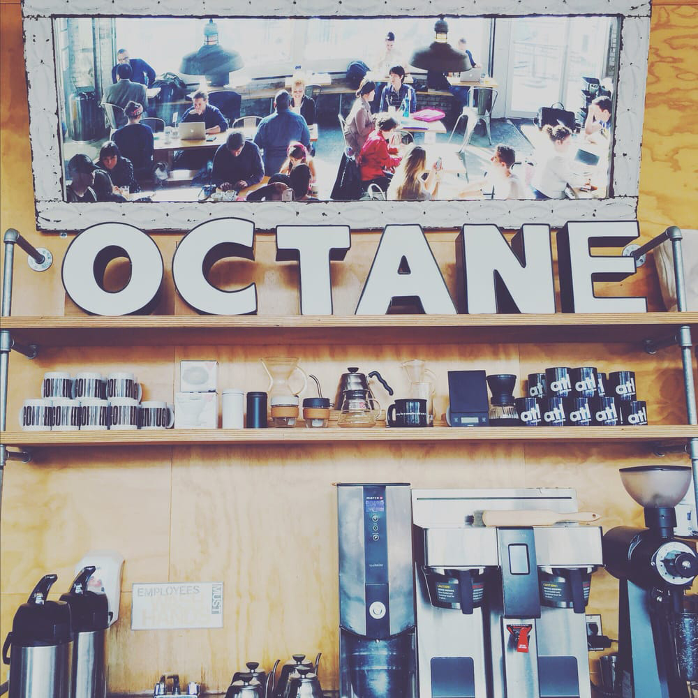 Octane Coffee/bar (Grant park) 437 Memorial Dr Ste A5 Atlanta, GA 30312 404.815.9886 ext 2 Regular Hours: Mon - Fri 7am-10pm Sat & Sun 8am-10pm   www.octanecoffee.com