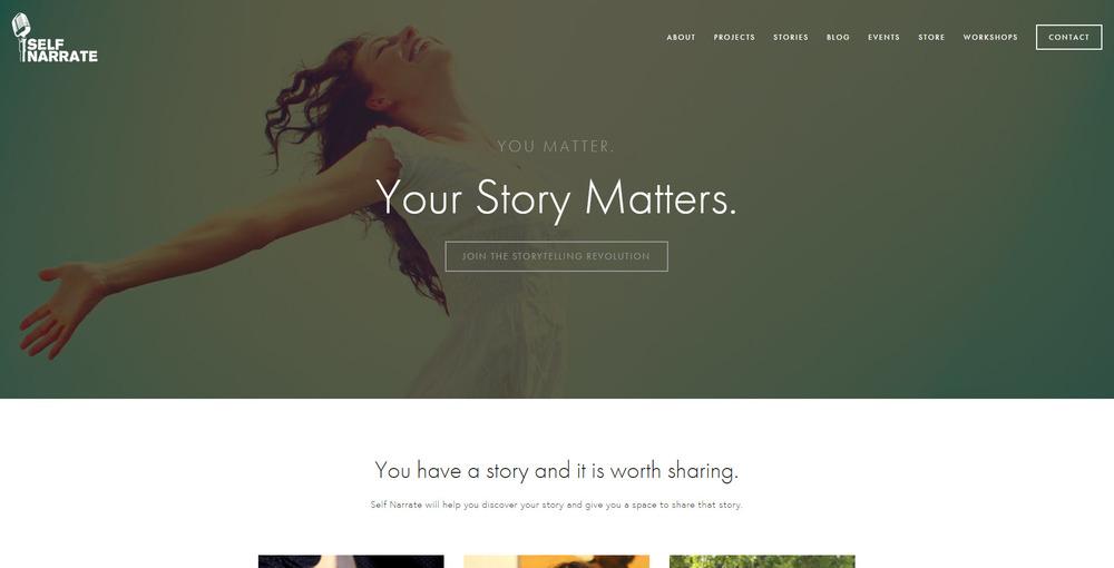 Self Narrate Website