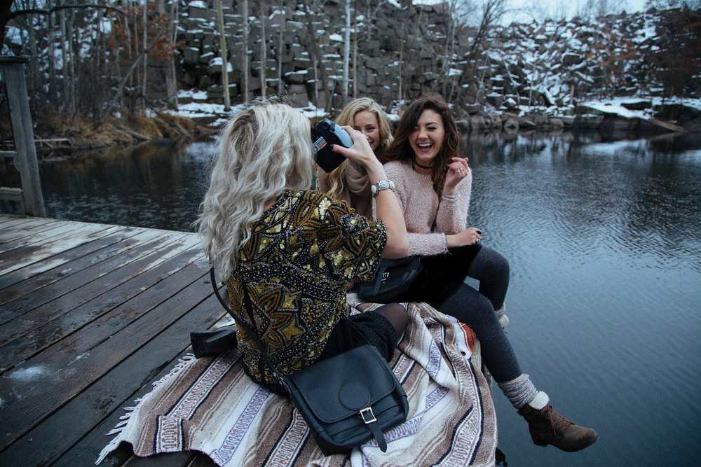 Allegra:Kendall & Kylie for Pacsun top | MetoWe Sweater |Brandy Melville Skirt   Courtney:Free People Dress | Free People Wrap Scarf    Hailey:Vintage Beaded Dress |Rue21 Headband