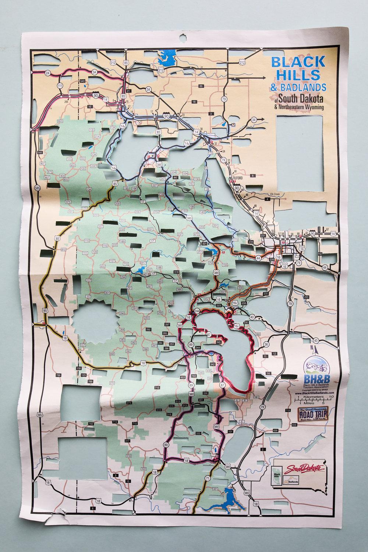 #_____HILLS___LANDS,2017  Hand-cut map