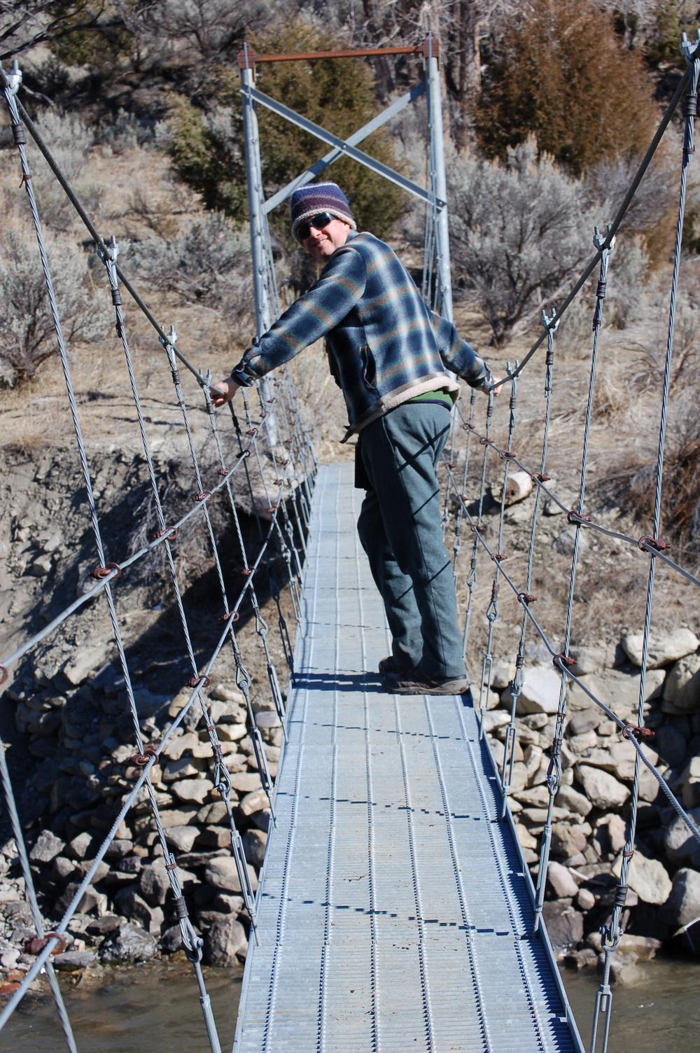 Suspended over the Gardner River