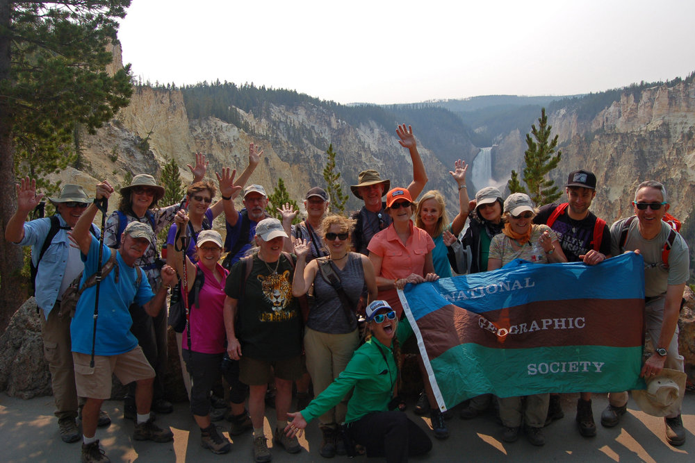 National Geographic Expeditions with Yellowstone Hiking Guides at Artist Point