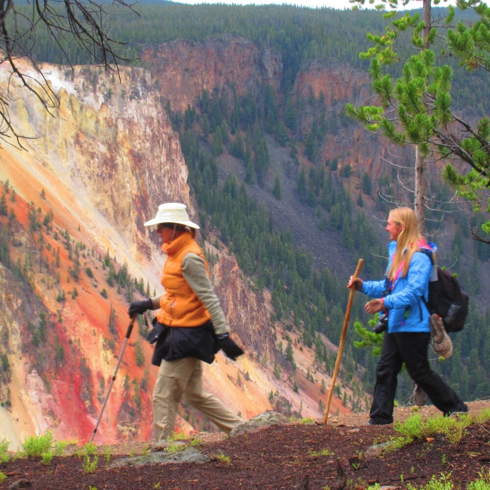 Grand Canyon Rim Hike - colorful 1,200ft cliffs and raging waterfalls