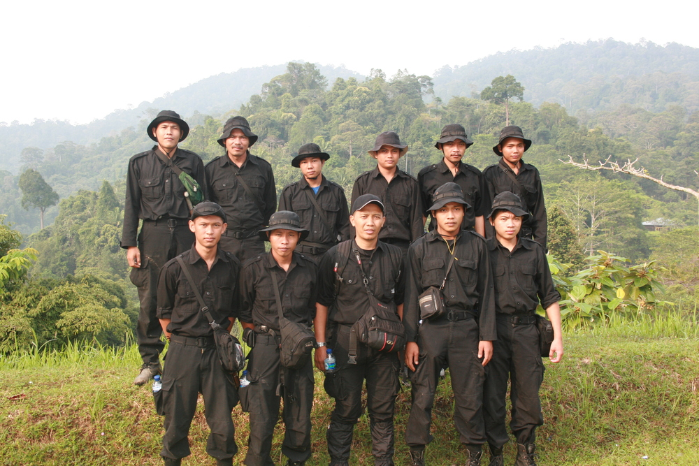 Members of the PKHS Tiger Protection Unit at Bukit Tigapuluh National Park