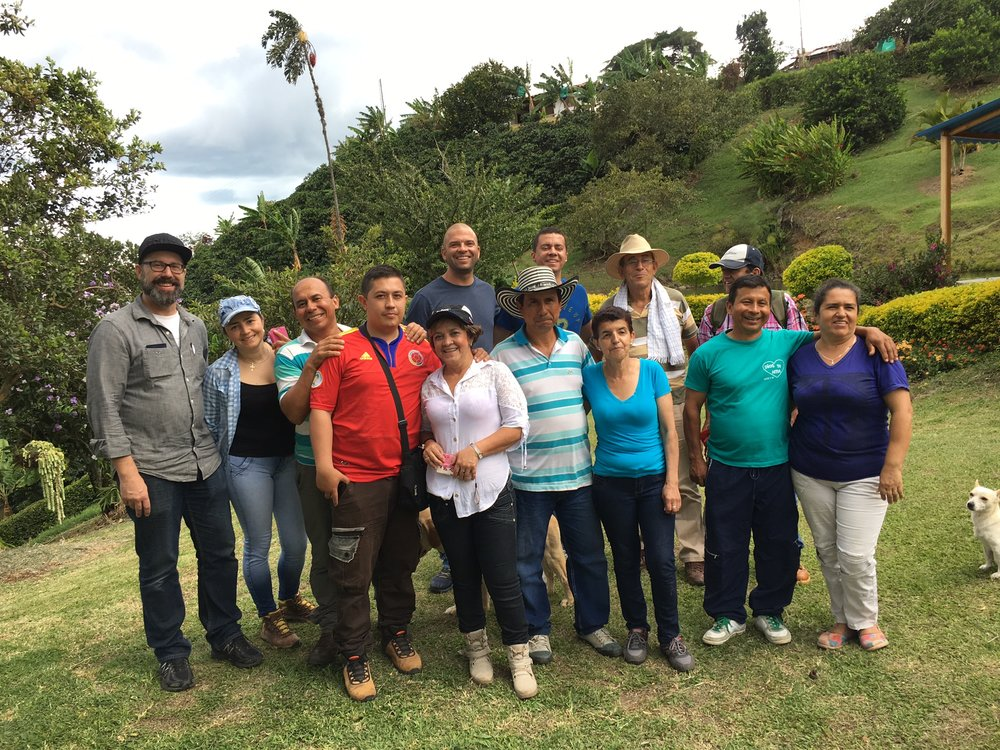 Our Director of Coffee Ted Stachura with members of La Cristalina Association.
