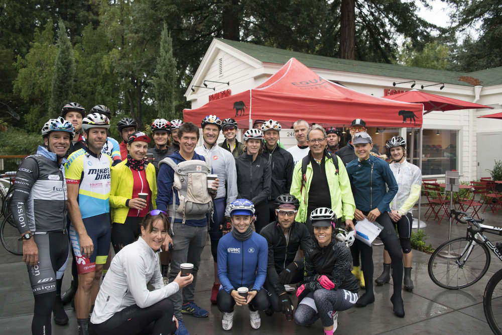 The inaugural Equator Ride Group!