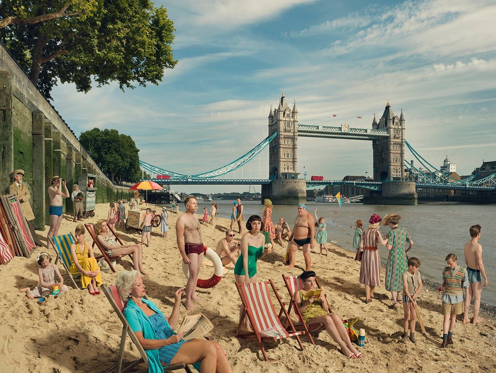 Bathers at Tower Bridge