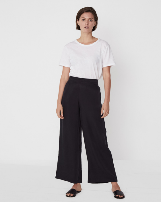 Wide Leg Pants (Black) - $179.90