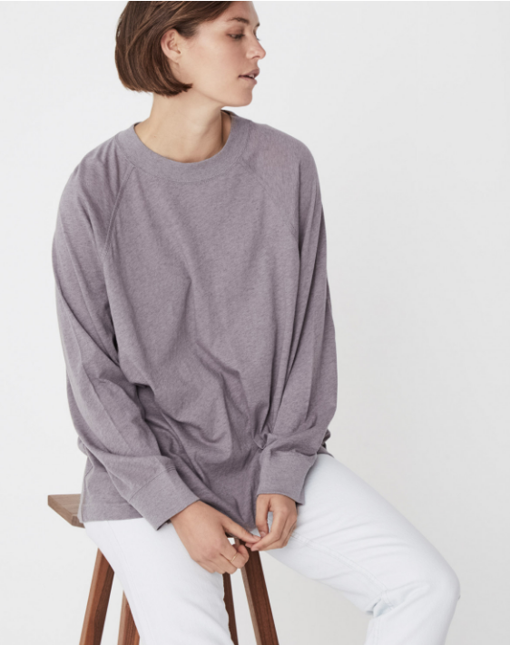 Oversized Long Sleeve Tee (Stone Marle) - $59.90