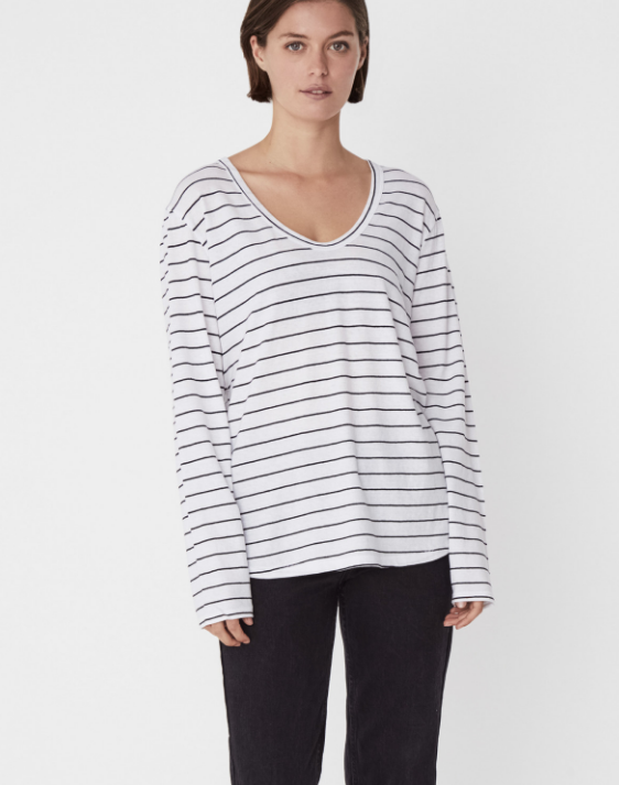 Soft V Long Sleeve (Cord Stripe) - $59.90