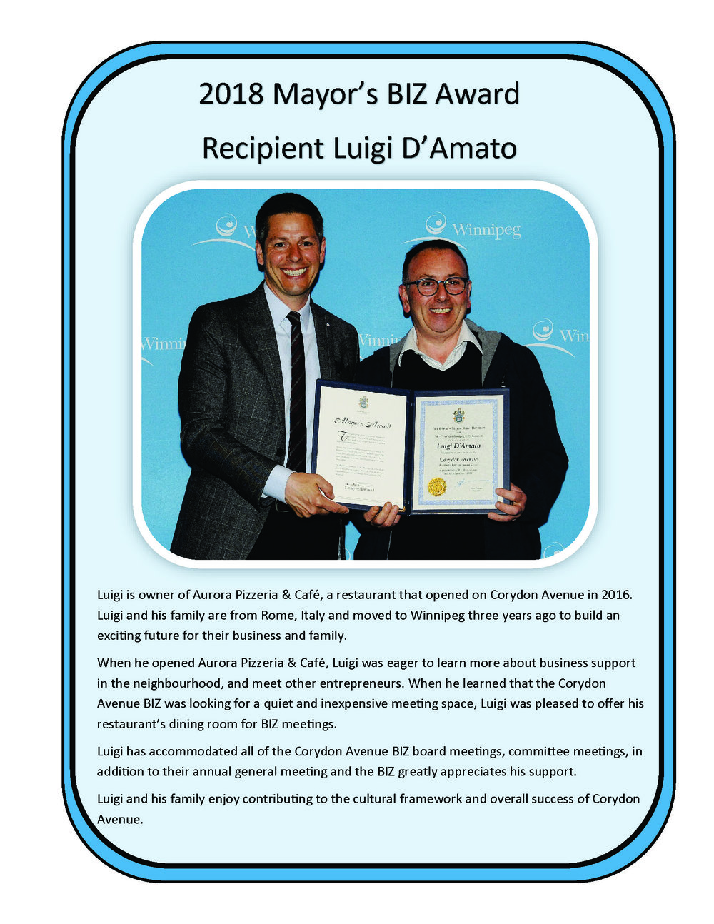 Luigi damato mayor awards 2018.jpg