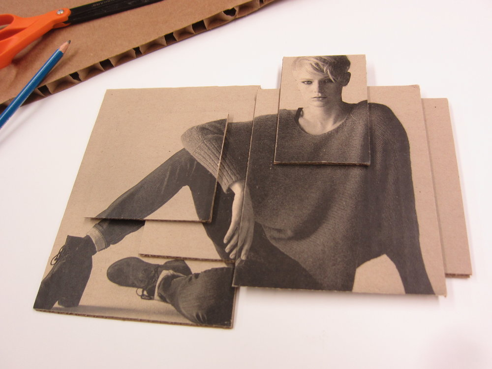 printed canvas collage adverting campaign, Eileen Fisher Boutique, Columbus Circle, New York
