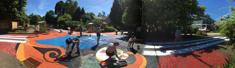 repainting share-it square during vbc18