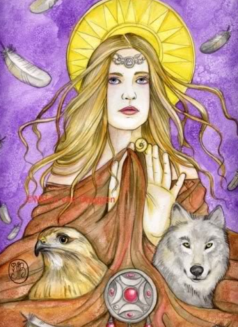 Brigit at Imbolc from Blogspot