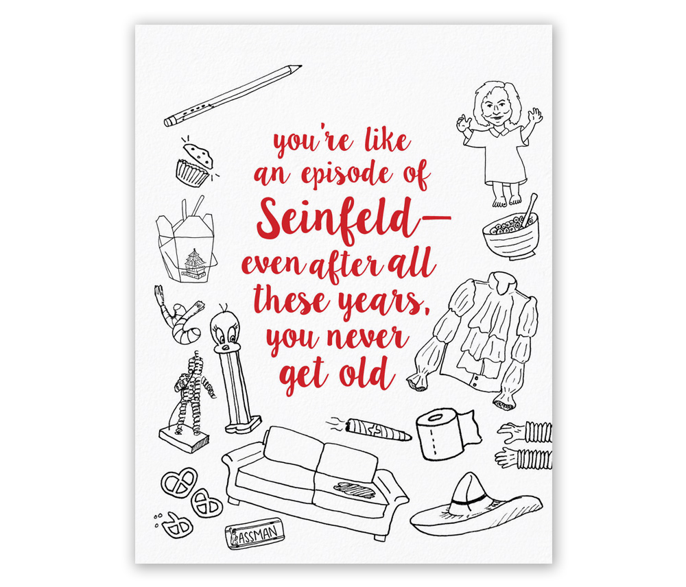 Greeting cards bonomo paper co seinfeld card m4hsunfo