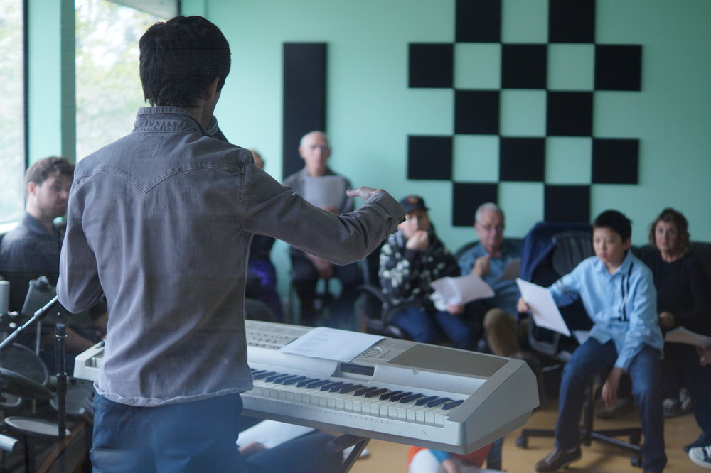 Jacob leading the first rehearsal on April 15th, 2018.