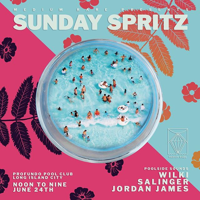 Heyder Summer! 🤗 That City heat is really here and as always, we got what you need with Sunday Spritz 💦🍹We're taking over the Profundo Pool Club ALL day this Sunday, 6/24 from NOON to NINE for poolside hangs and dips w/ sounds by our guys @jdissalinger • @jordaanjames • @wilkiofficial and some other special guests as well ;) Come rock with us early and hang for the Sunset Session at the brand new poolside jump off ☀️ Sips, views, beats, eats and day beds... #SaveItForSunday 🍉 Use code MediumRare to get $25 off the Full Day $50 pass 💎 Link in Bio🤩