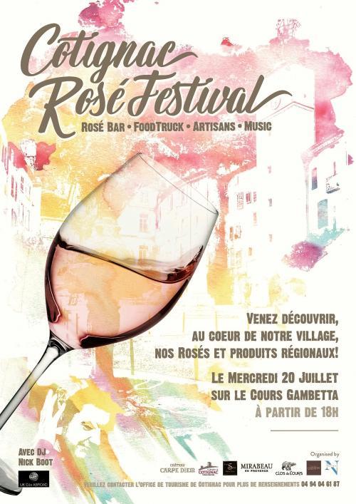 Rosé Festival, Cotignac, Provence 2016
