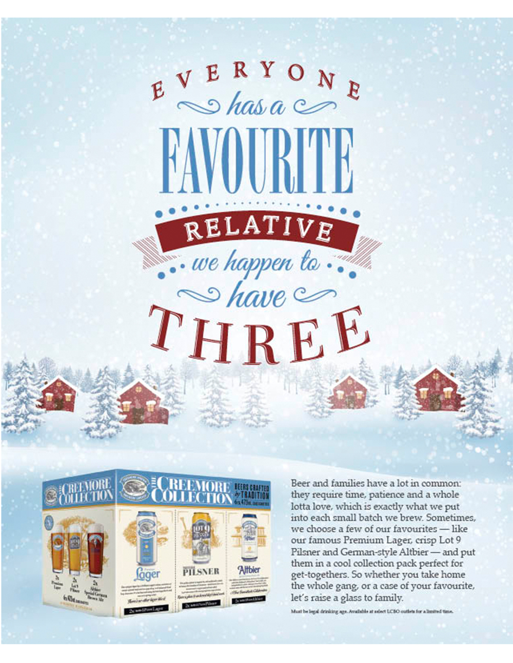 Client Approved. Printed in the Holiday Edition LCBO Food and Drink Magazine 2015.