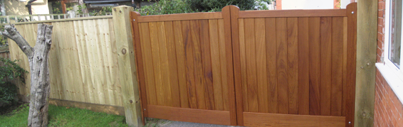 Richmond Gates in Iroko