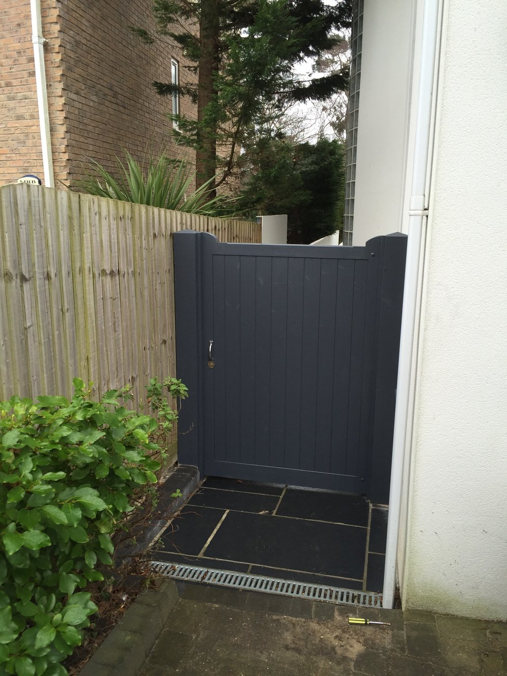Richmond Style Gates painted in Grey