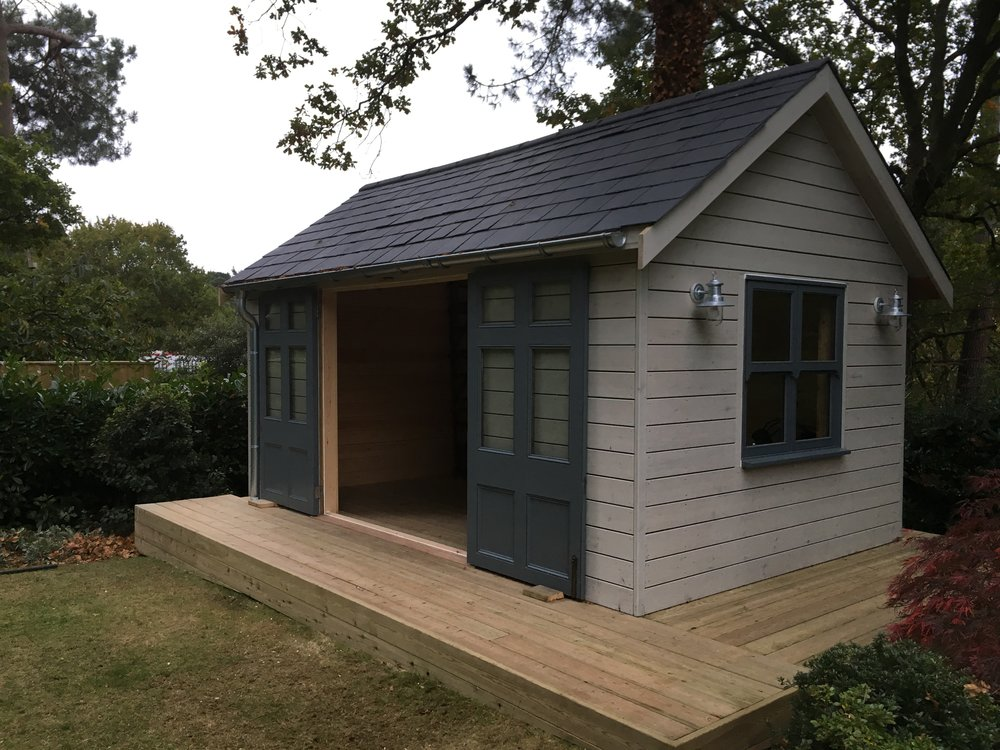 Softwood Garden Building with Pitched Roof