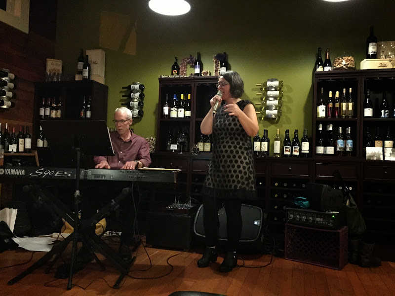 With Carrie Wicks at Match Coffee and Wine, January 2015
