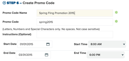Create promo codes for discounts