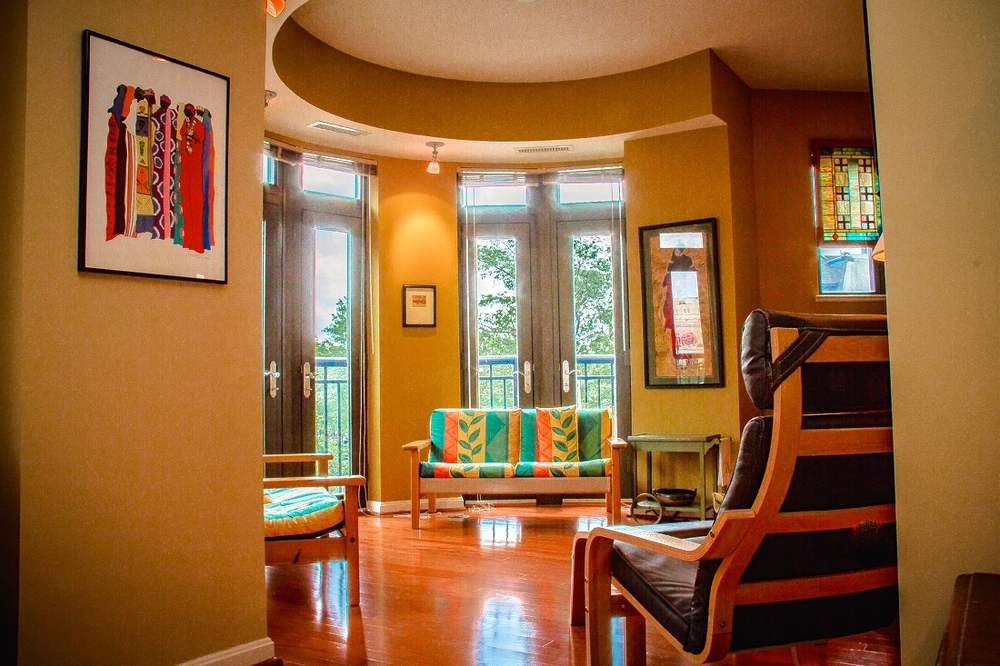 Turret Style Living Room
