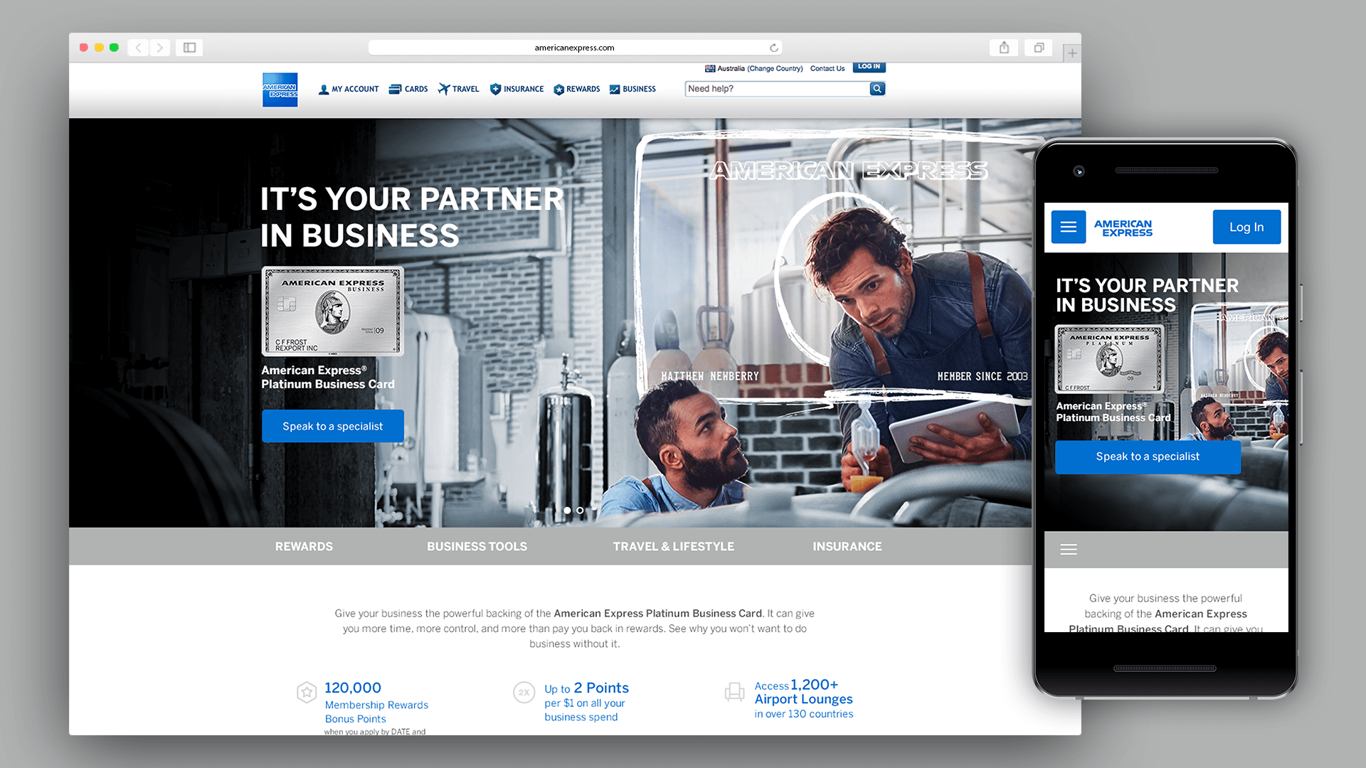 American Express Platinum Business Card Landing Page — Garry Lau
