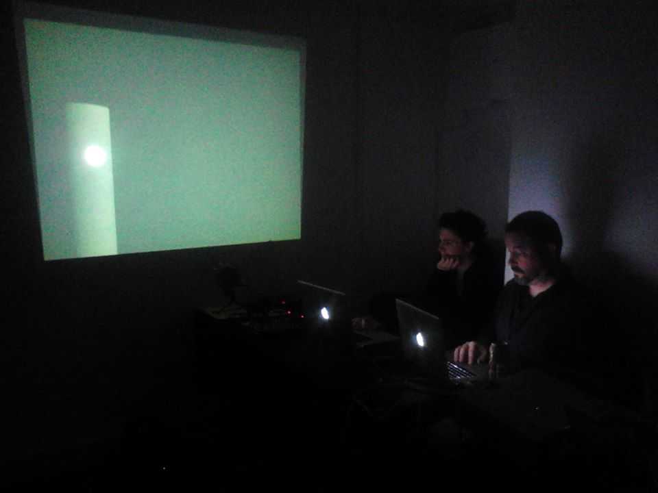 Ava Grayson and Simon Overstall performing at Third Space, Helsinki, Finland