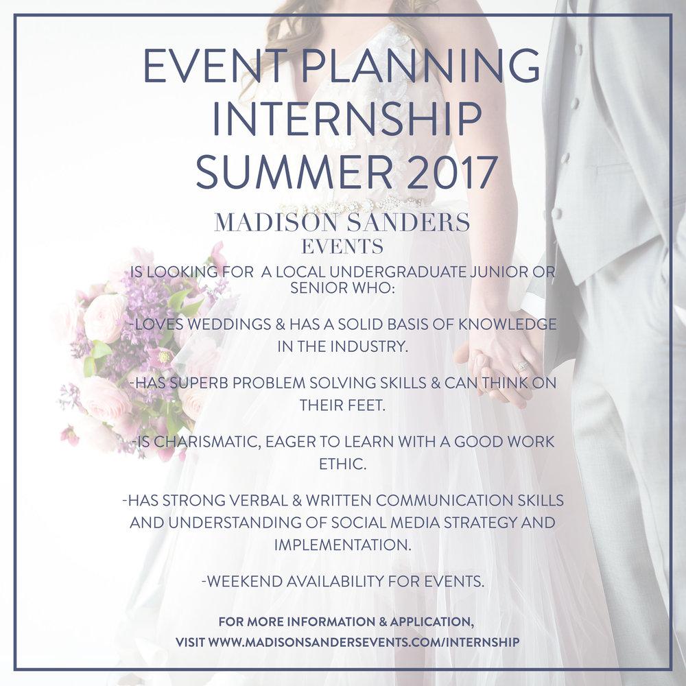 Internship Madison Sanders Events Kansas City High End Wedding