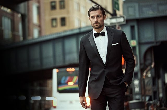 The Spring 2019 Campaign, photographed by @sebkimstudio featuring @wouterpeelen1 in a notch lapel New York fit tuxedo. #HartSchaffnerMarx