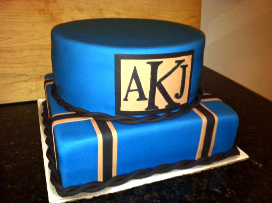 Blue Monogram cake.jpg