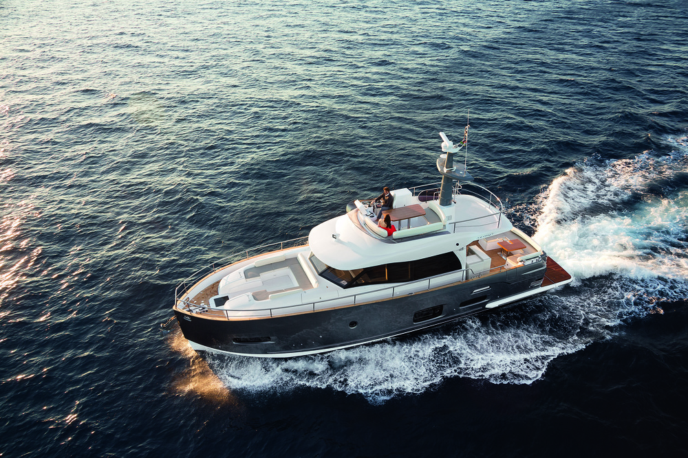 Magellano Collection  For those who want to fully enjoy the sea and arrive at their destination happier and lighter of mind than before thanks to being cosseted by the comfort and elegance of an Azimut yacht. Finally, free to sail.