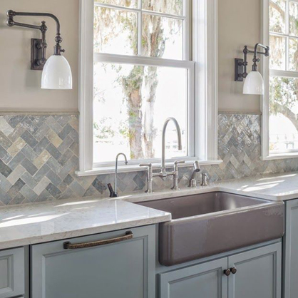 Wall Sconces In The Kitchen : TREND: Industrial Wall Sconces Light Your Shelves Statements in Tile/Lighting/Kitchens/Flooring