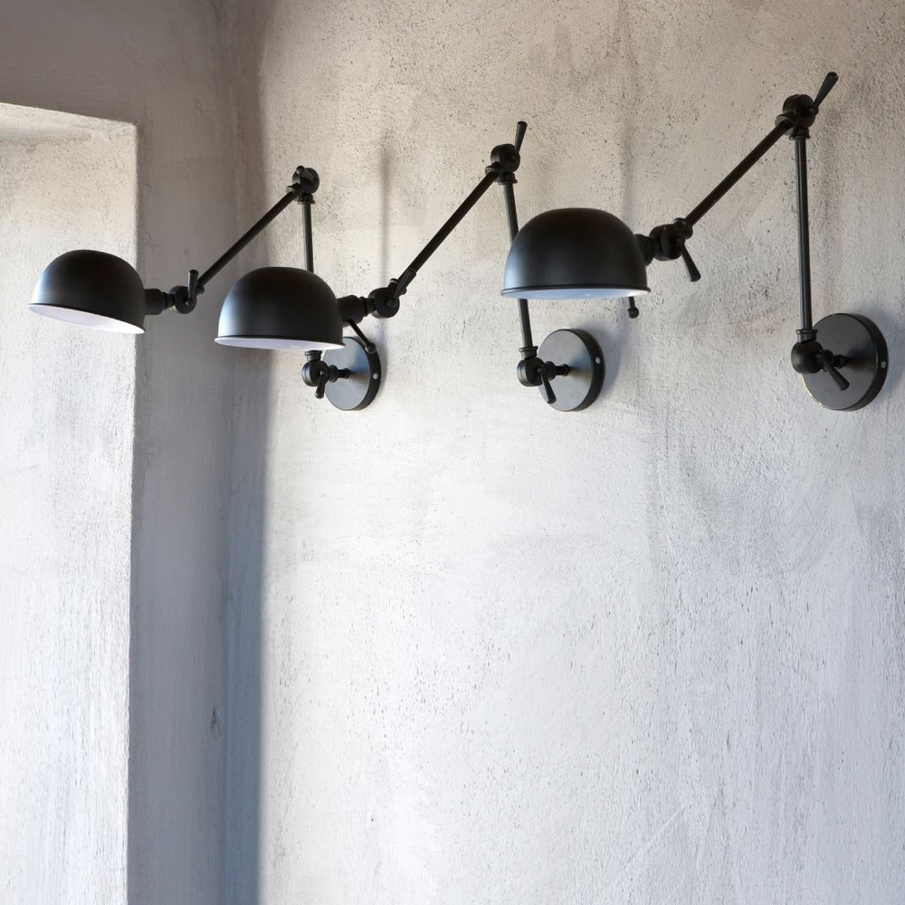 trend industrial wall sconces light your shelves. Black Bedroom Furniture Sets. Home Design Ideas
