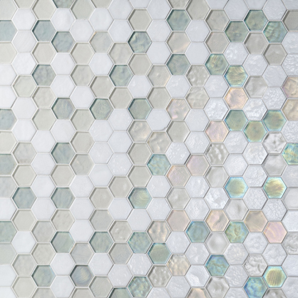 Oceanside Glass Tile mosaic for walls and floors.