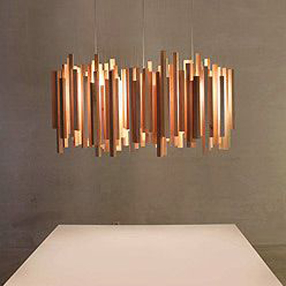 Copper Chandelier.