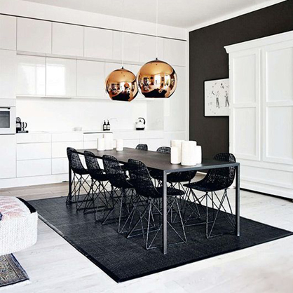 A Copenhagen apartment via Elle Decoration.