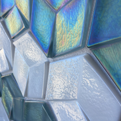 Dimensional mosaic tile.