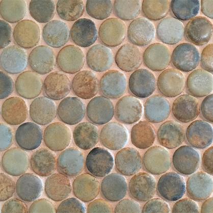 """1"""" Dots mosaic tile."""