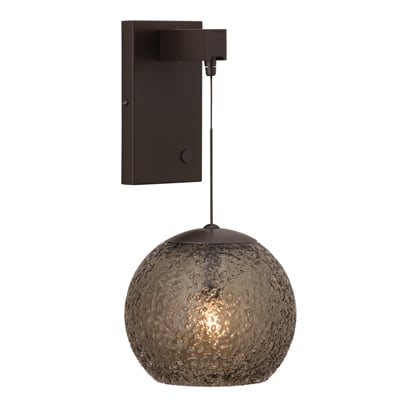 Siena wall bracket with Mini-Rock Candy Round pendant.