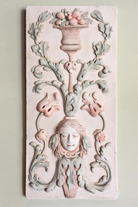 Floral custom tile plaque.