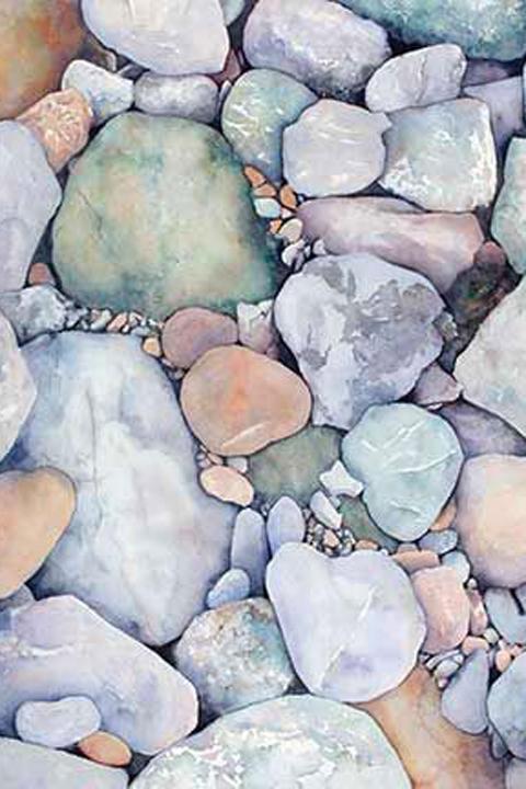 Rocks in subtle hues...