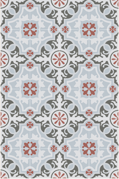 Floral cement tile.