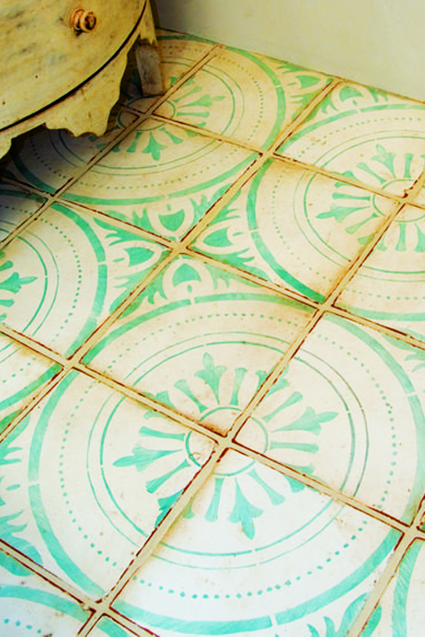 Rustic yet delicate flooring in a bathroom by Statments In Tile/Lighting/Kitchens/Flooring.