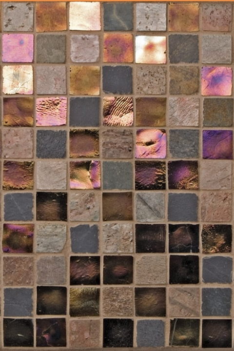 Pearlescent Glass Mosaic Tile Mix.