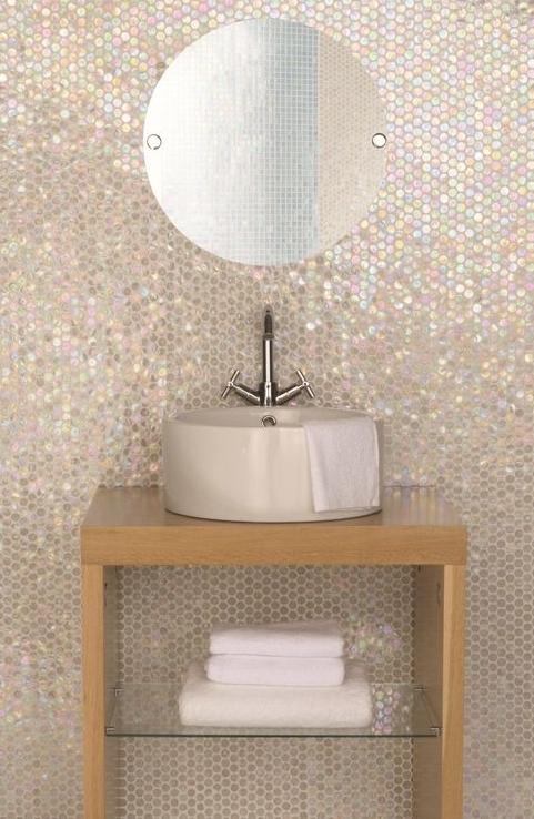 White Lady Circular Mosaic.