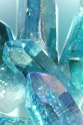 Blue Crystal Hexagonal Shape